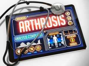 Arthrosis on the Display of Medical Tablet.