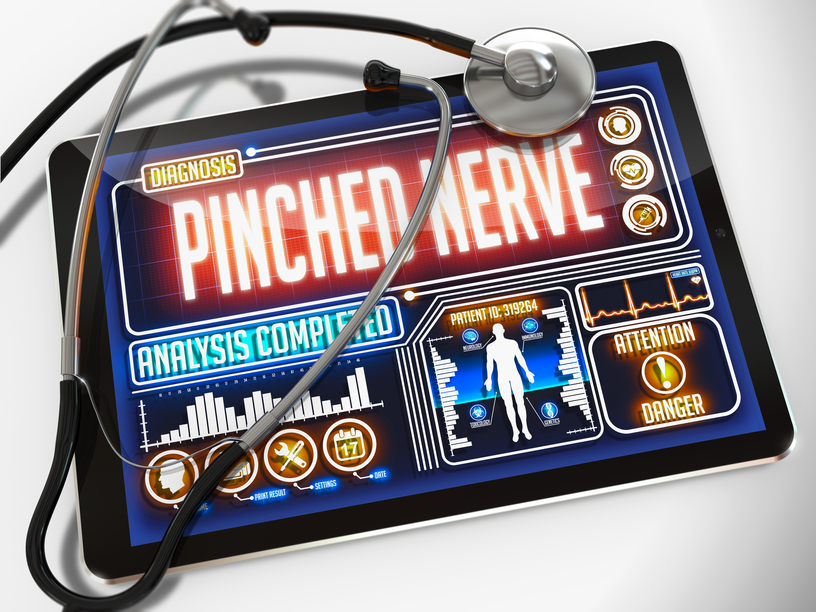 stockfresh 6357929 pinched nerve on the display of medical tablet sizeS